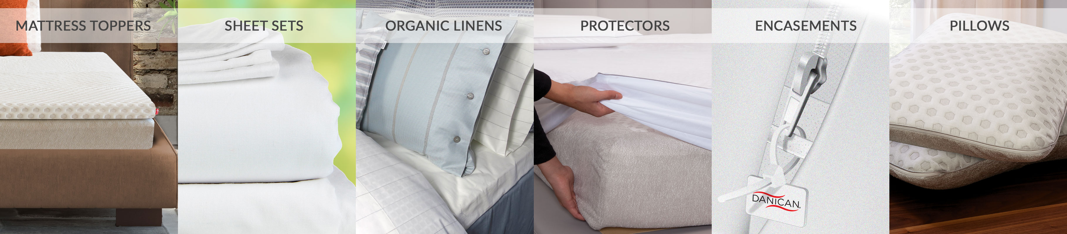 Danican Private Label Bedding Product Line - Wholesale Bedding Manufacturer - Mattresses - Memory Foam - Mattress Toppers - Hybrid Mattress - Private Label Bedding Sheets - Private Label Organic Linens - Private Label Mattress Protectors - Private Label Mattress Encasements - Private Label Pillow Protectors - Danican Bedding